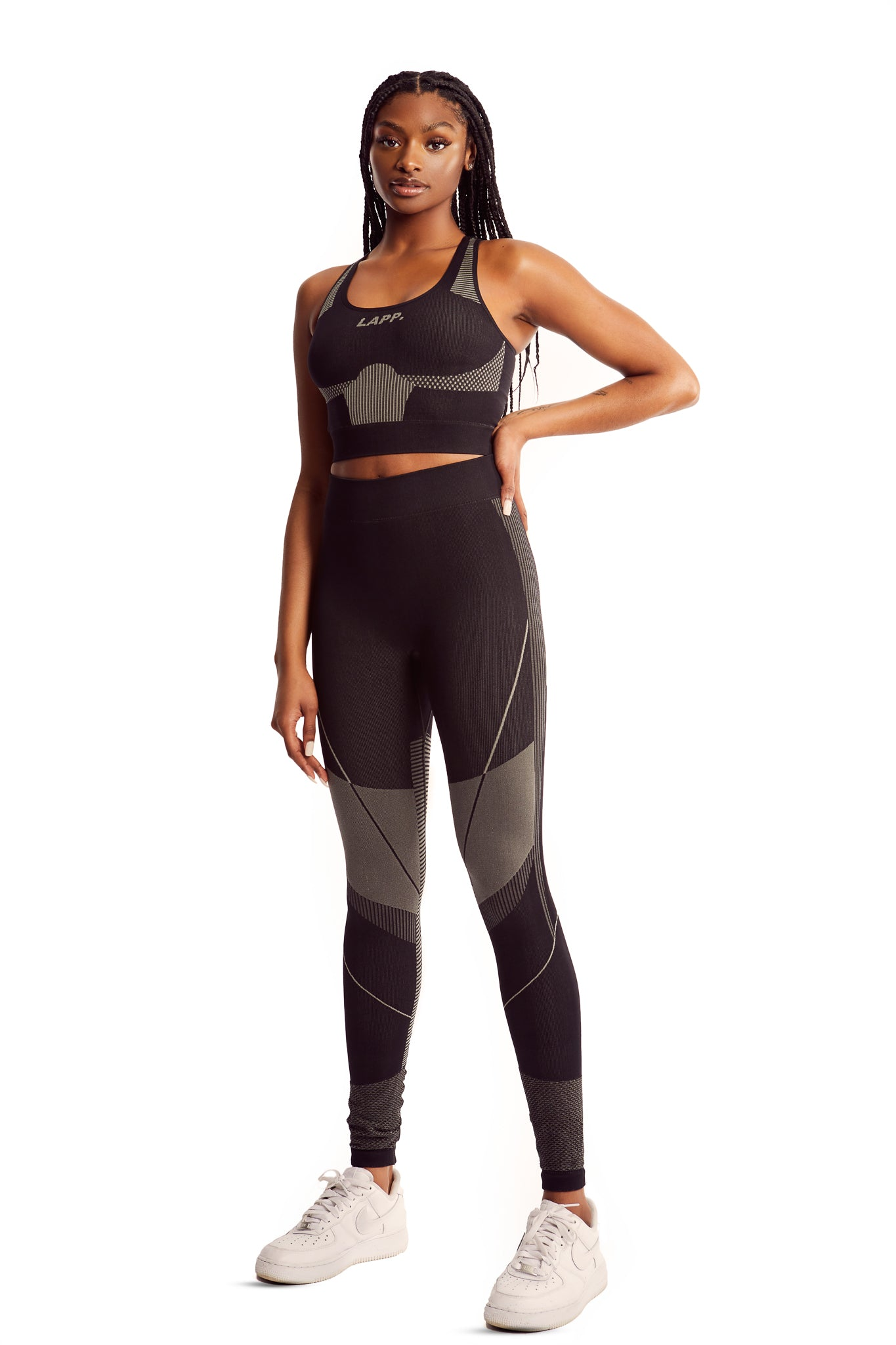 Seamless contour leggings [Charcoal]