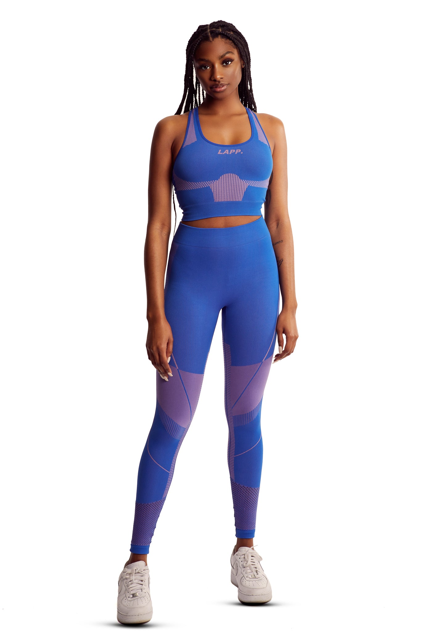 Seamless contour sports bra [Royal Blue]