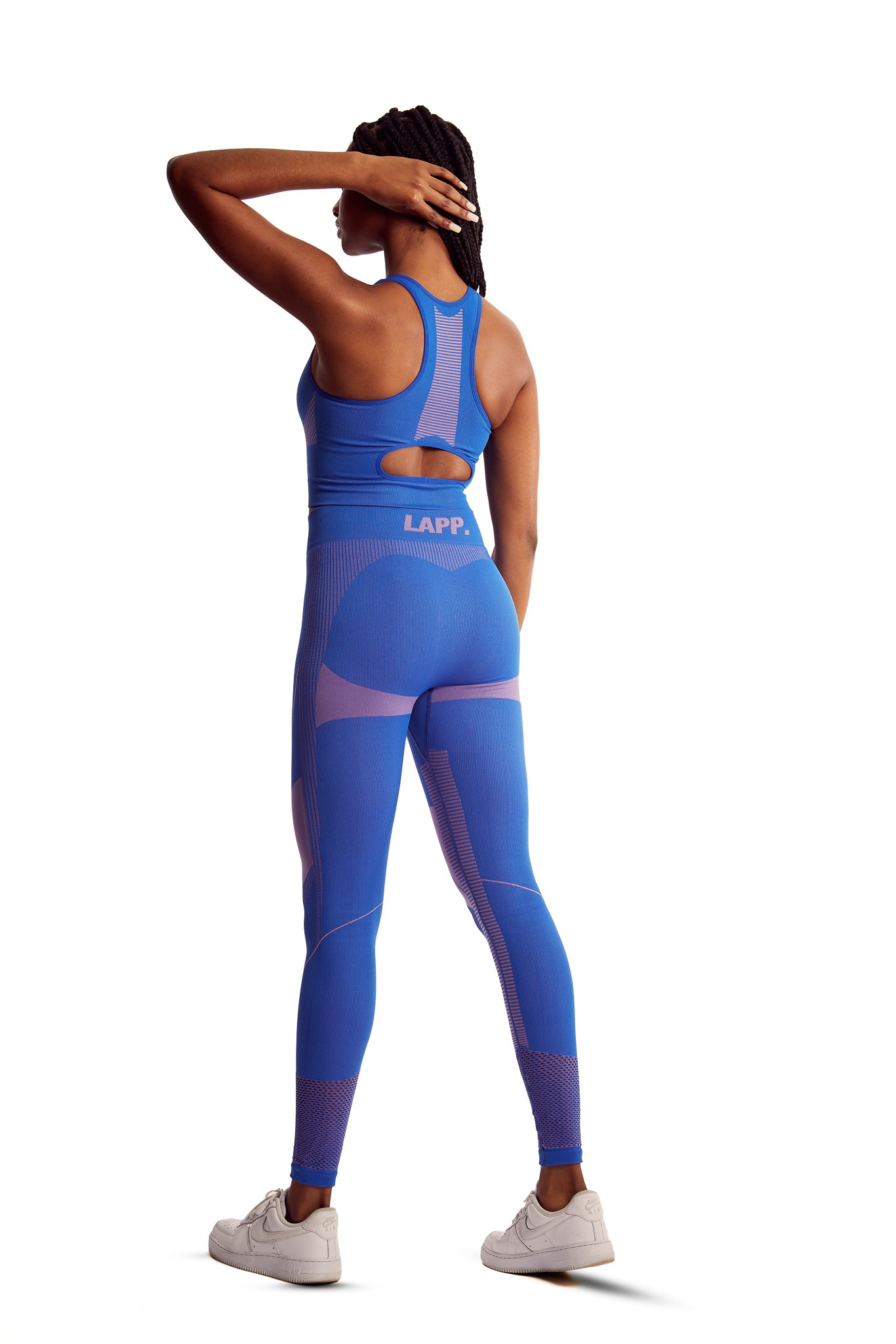 Seamless contour leggings [Royal Blue]