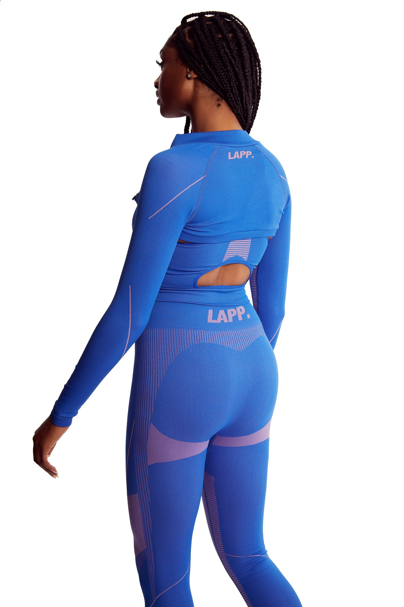 Seamless cropped jacket [3m/ Royal Blue]