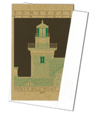 Thirty Mile Point Light - 1875 Green Miniature Digital Print