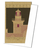 Thirty Mile Point Light - 1875 Purple Miniature Digital Print