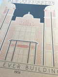 Wear Ever Building - 1914 Orange Digital Print