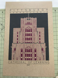 Cathedral of Learning - 1937 Purple Digital Print