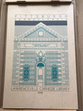 Lawrenceville Carnegie Library - 1898 Green Digital Print