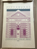 Lawrenceville Carnegie Library - 1898 Purple Digital Print
