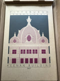 Keenan Building - 1907 Purple Digital Print