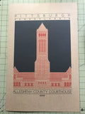 Allegheny County Courthouse - 1888 Orange Digital Print