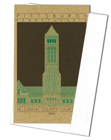 Allegheny County Courthouse - 1888 Green Miniature Digital Print