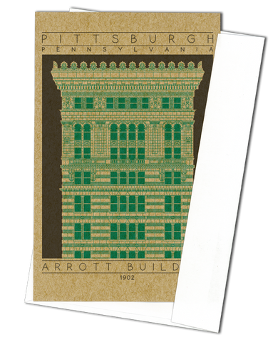 Arrott Building - 1902 Green Miniature Digital Print