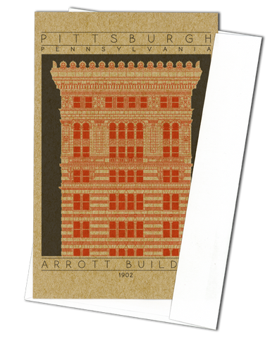 Arrott Building - 1902 Orange Miniature Digital Print