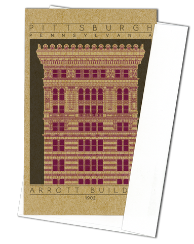 Arrott Building - 1902 Purple Miniature Digital Print