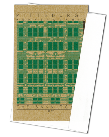 The Bank Tower - 1902 Green Miniature Digital Print