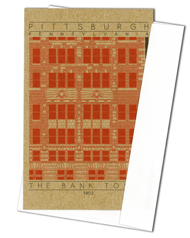 The Bank Tower - 1902 Orange Miniature Digital Print