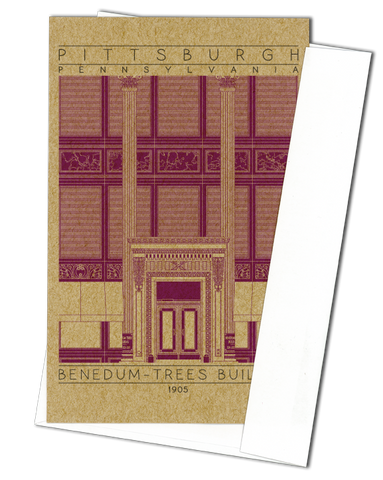 Benedum-Trees Building - 1905 Purple Miniature Digital Print