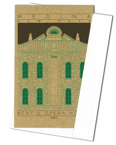 Bent's Opera House - 1865 Green Miniature Digital Print