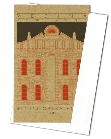 Bent's Opera House - 1865 Orange Miniature Digital Print
