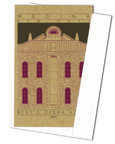 Bent's Opera House - 1865 Purple Miniature Digital Print