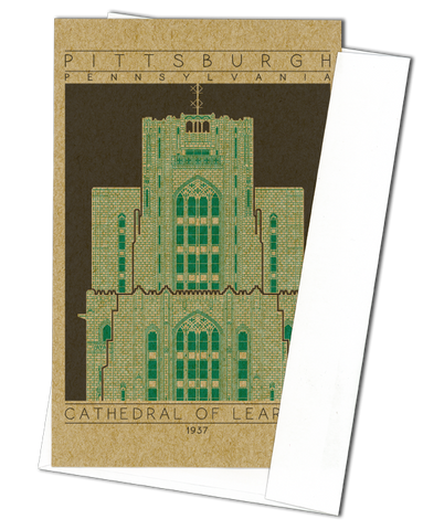 Cathedral of Learning - 1937 Green Miniature Digital Print