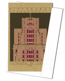 Cathedral of Learning - 1937 Purple Miniature Digital Print