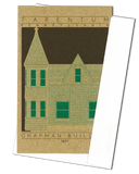 Chapman Building - 1897 Green Miniature Digital Print