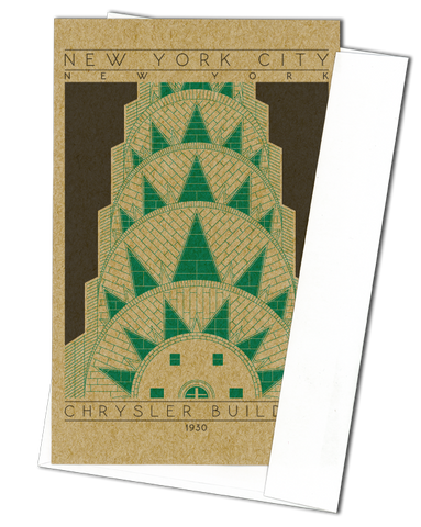 Chrysler Building - 1930 Green Miniature Digital Print