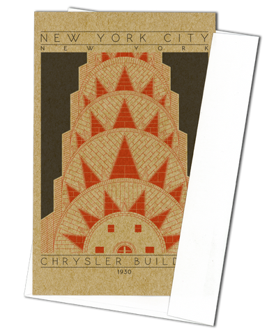 Chrysler Building - 1930 Orange Miniature Digital Print