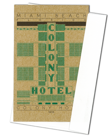 Colony Hotel - 1935 Green Miniature Digital Print