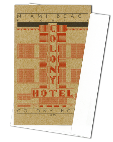 Colony Hotel - 1935 Orange Miniature Digital Print