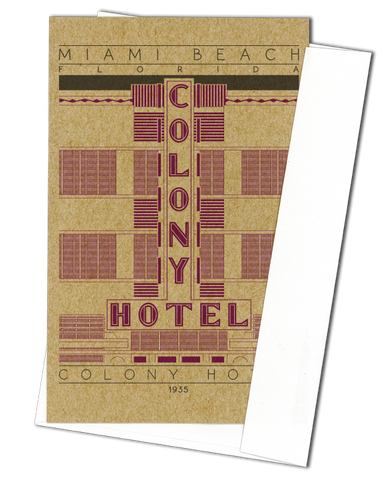 Colony Hotel - 1935 Purple Miniature Digital Print