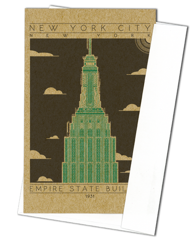 Empire State Building - 1931 Green Miniature Digital Print