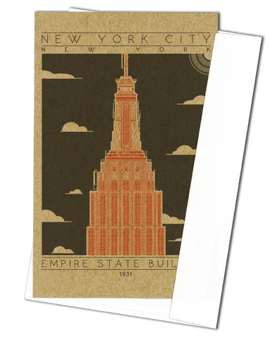 Empire State Building - 1931 Orange Miniature Digital Print