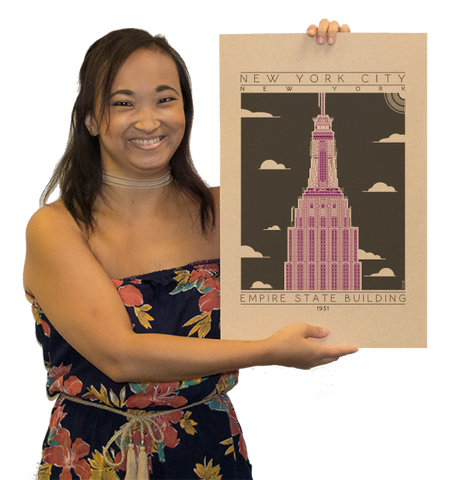 Empire State Building - 1931 Purple Digital Print