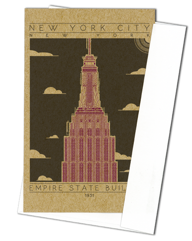 Empire State Building - 1931 Purple Miniature Digital Print
