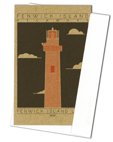 Fenwick Island Light - 1858 Orange Miniature Digital Print