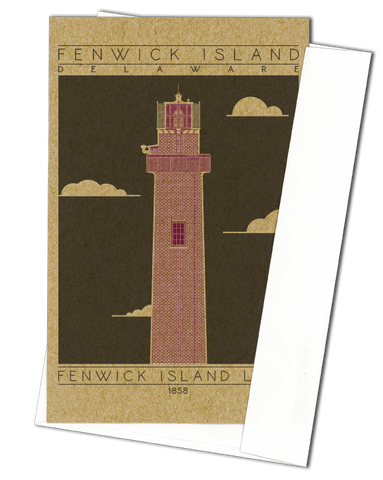 Fenwick Island Light - 1858 Purple Miniature Digital Print