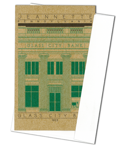 Glass City Bank - 1922 Green Miniature Digital Print