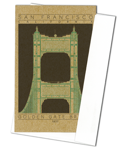 Golden Gate Bridge - 1937 Green Miniature Digital Print