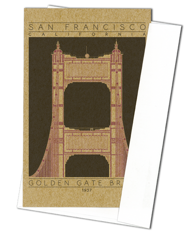 Golden Gate Bridge - 1937 Purple Miniature Digital Print