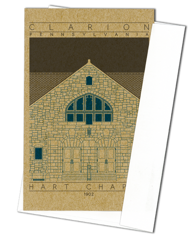Hart Chapel - 1902 Blue Miniature Digital Print