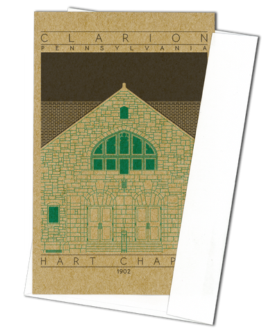 Hart Chapel - 1902 Green Miniature Digital Print
