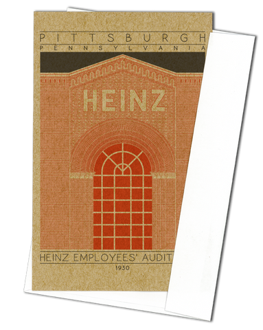 Heinz Employees' Auditorium - 1930 Orange Miniature Digital Print