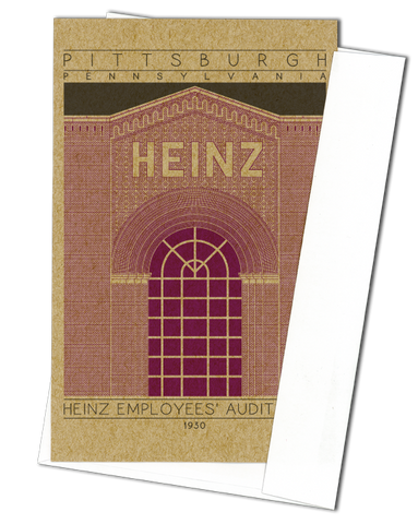 Heinz Employees' Auditorium - 1930 Purple Miniature Digital Print