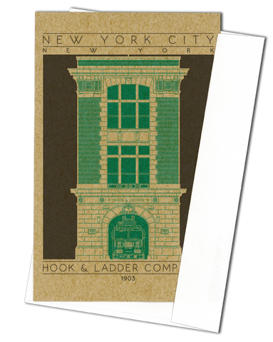 Hook & Ladder Company 8 - 1903 Green Miniature Digital Print