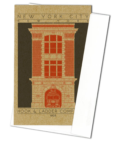 Hook & Ladder Company 8 - 1903 Orange Miniature Digital Print