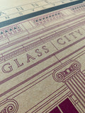 Glass City Bank - 1922 Purple Digital Print