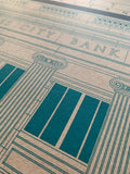 Glass City Bank - 1922 Green Digital Print