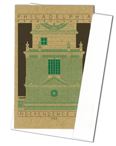 Independence Hall - 1753 Green Miniature Digital Print