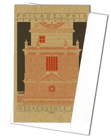 Independence Hall - 1753 Orange Miniature Digital Print