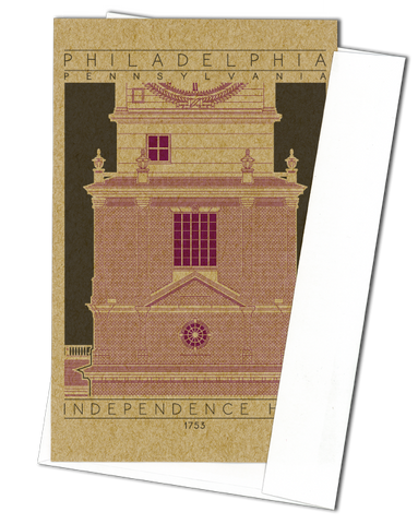 Independence Hall - 1753 Purple Miniature Digital Print